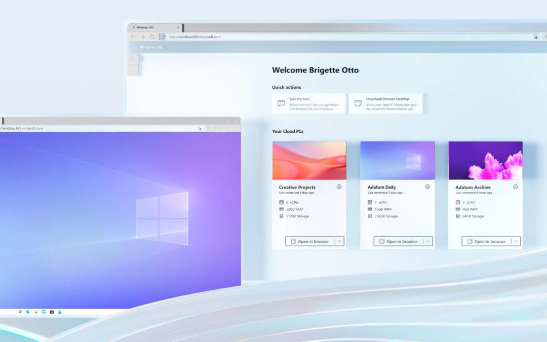 Neu für Unternehmen: Windows 365 – das Microsoft Betriebssystem aus der Cloud